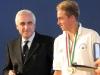 Mattia Camboni RS:X con il Presidente Carlo Croce
