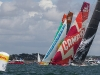 The fleet in the Bretagne In-Port Race, in Lorient, France, during the Volvo Ocean Race 2011-12. (Credit: IAN ROMAN/Volvo Ocean Race)