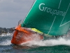 Groupama Sailing Team competing in the Bretagne In-Port Race, in Lorient, France, during the Volvo Ocean Race 2011-12. (Credit: IAN ROMAN/Volvo Ocean Race)