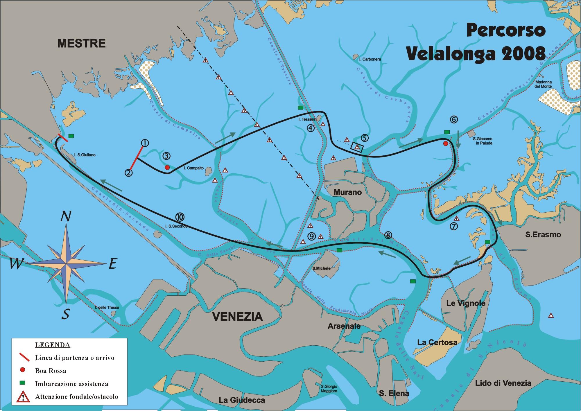 Cartina Laguna Di Venezia.Carta Nautica Della Laguna Di Venezia Velablog Mistro
