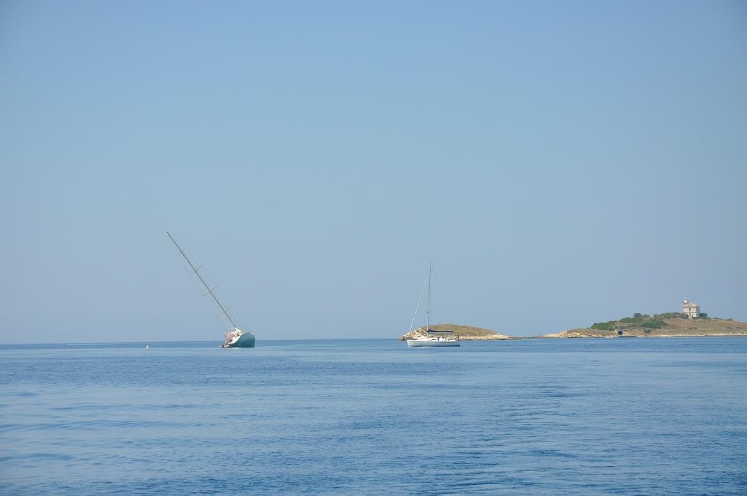 barca arenata secca korcula