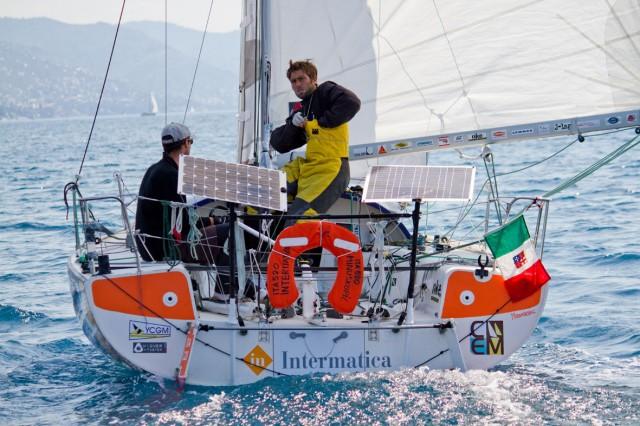 Andrea Pendibene e Remi Fermin vincitori del Gran Premio d?Italia Mini 6.50 nella categoria barche di serie
