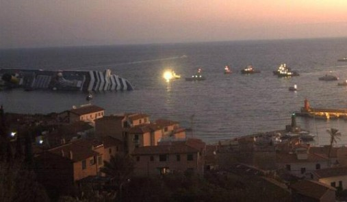 incidente nave crociera costa concordia 2012