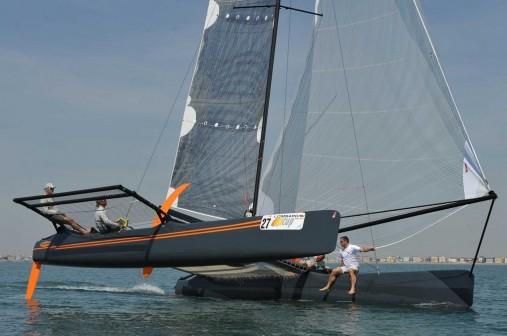 Catamarano Hagar III alla duecento 2012